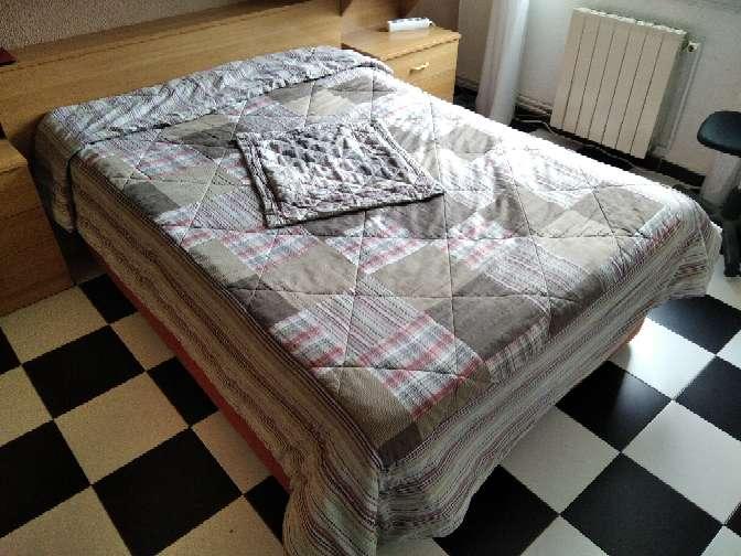 Imagen Manta (edredón) invierno para cama de matrimonio y funda de cojin