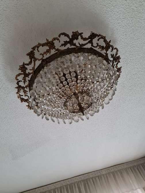Imagen producto Maravillosa lámpara de cristales en forma de lágrimas  3