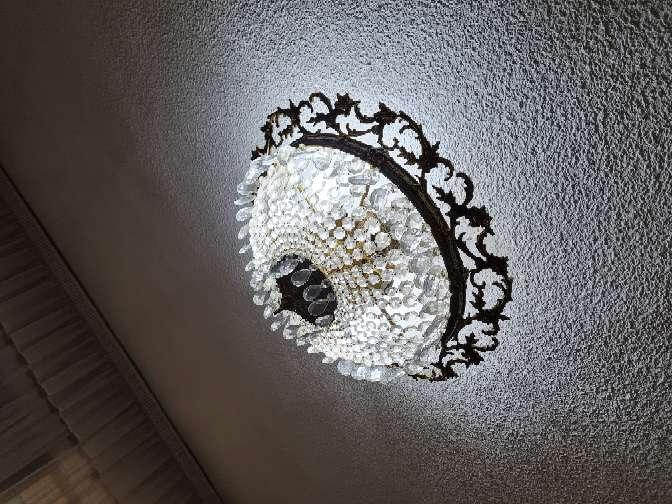 Imagen producto Maravillosa lámpara de cristales en forma de lágrimas  4