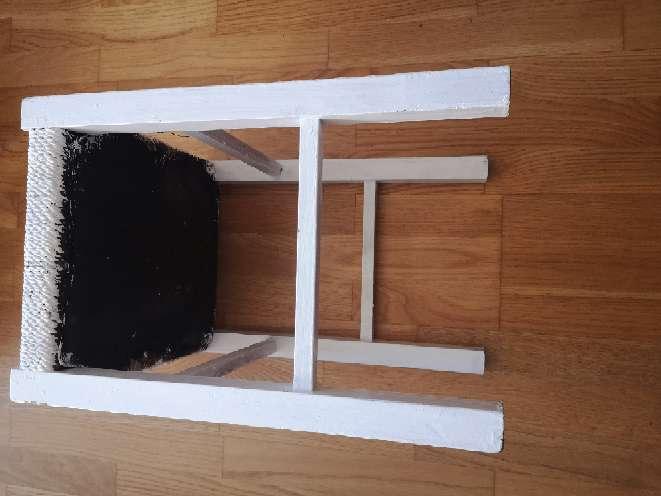 Imagen producto Taburetes mimbre y madera 4