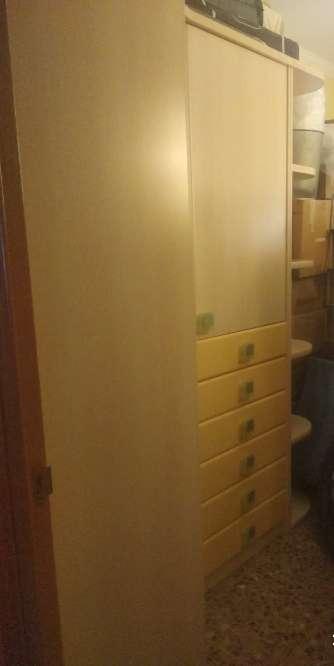 Imagen Mueble infantil con estantería, cabecero de la cama y el somier de 90