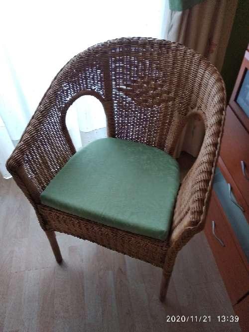 Imagen silla de mimbre