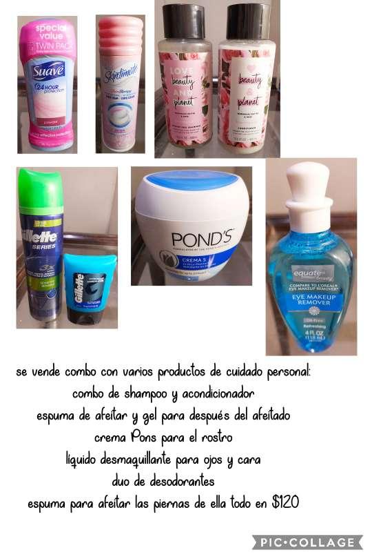 Imagen Combo de productos cuidado personal