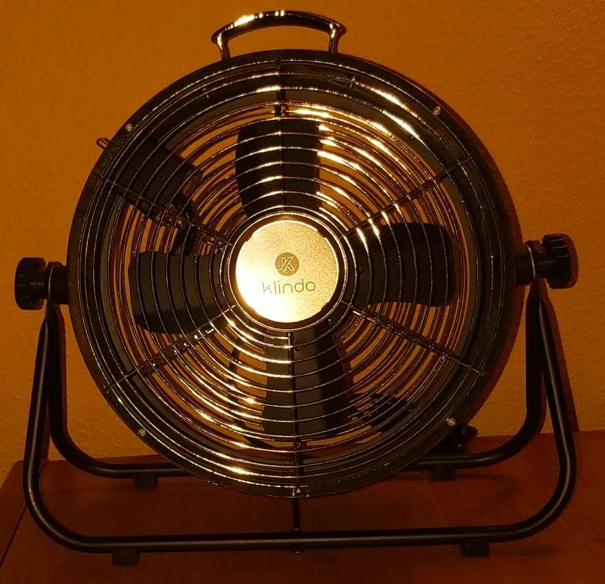 Imagen producto Ventilador Suelo Negro Estilo Industrial 25W 5