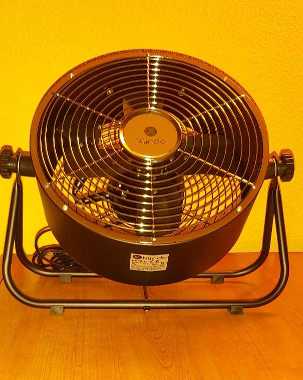 Imagen producto Ventilador Suelo Negro Estilo Industrial 25W 4