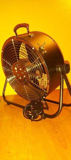 Imagen producto Ventilador Suelo Negro Estilo Industrial 25W 9