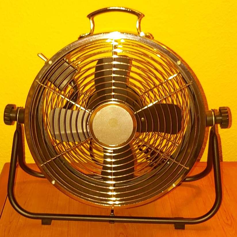 Imagen producto Ventilador Suelo Negro Estilo Industrial 25W 2