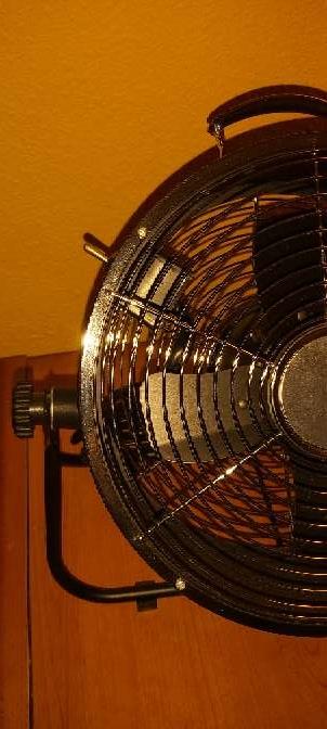 Imagen producto Ventilador Suelo Negro Estilo Industrial 25W 3