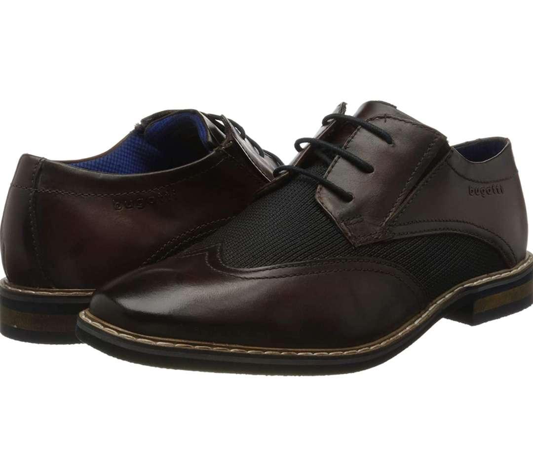 Imagen zapatos de lujo de la prestigiosa marca de Coches Bugatti, una obra de arte cosidos a mano con los mejores materiales, piel de alta calidad!!!