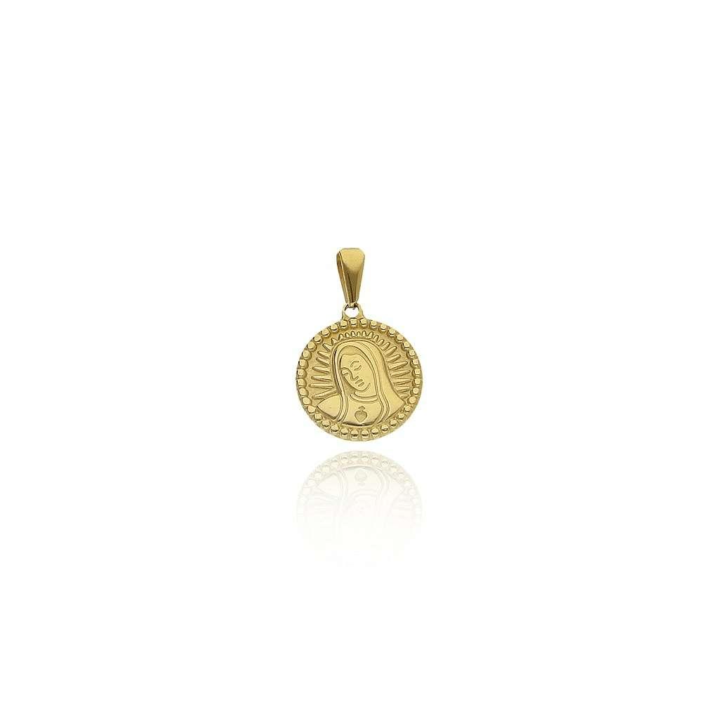 Imagen medalla de la virgen María