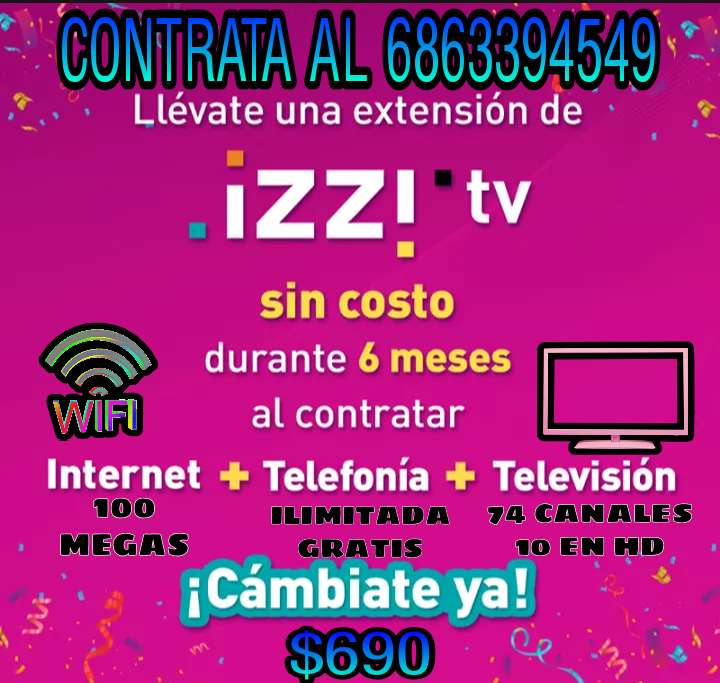 Imagen canales + internet 100 megas