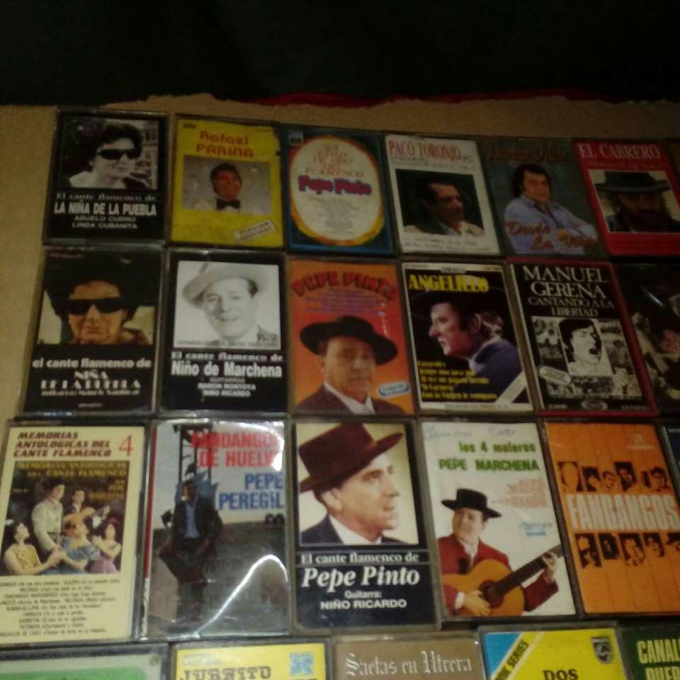 Imagen 36 cintas de caset de cante flamenco.