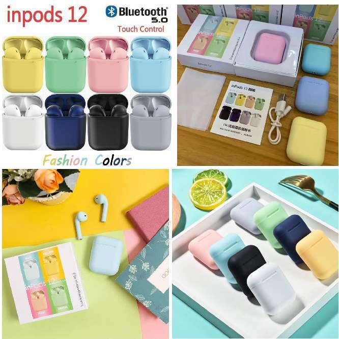 Imagen Inpod Audífonos Inalámbricos Tipo AirPods Bluetooth 5.0 Inpods I12 Touch + Cargador