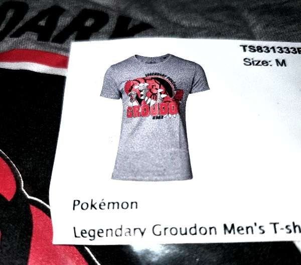 Imagen producto Camiseta Pokémon Groudon Nueva M 3