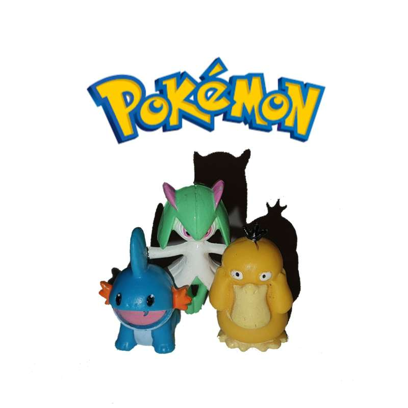 Imagen Lote De 3 Figuritas Pokémon