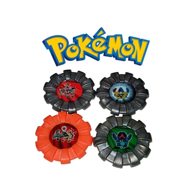 Imagen Lote De 4 Tazos Máster Boinx Pokémon 2007.