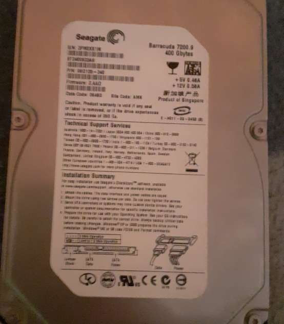 Imagen vende disco duro de 400 GB