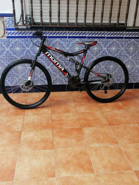 Imagen Bicicleta Moma doble suspensión en perfecto estado y funcionamiento