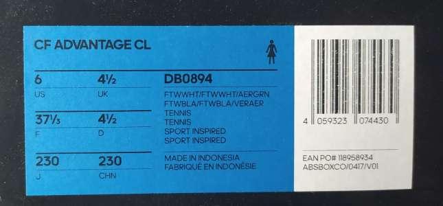 Imagen producto Zapatillas Adidas Cloudfoam Advantage Premium Women n°37 1/3 5