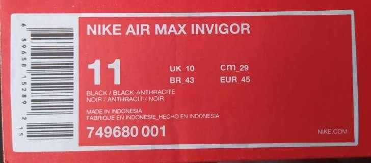 Imagen producto Zapatillas Nike Air Max Invigor n°45 5