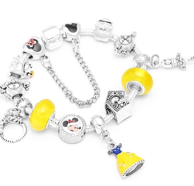 Imagen Pulsera estilo Pandora con Charms Princesa Disney Blancanieves