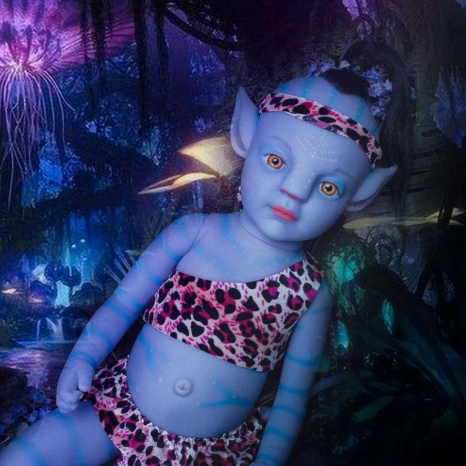 Imagen bebé avatar brillan en la oscuridad