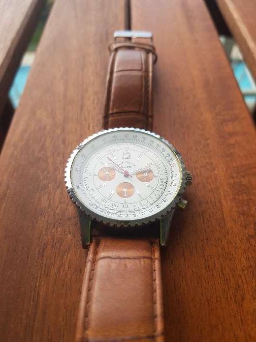 Imagen producto Reloj Louis Valentin piel. hombre 5