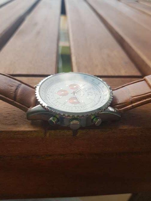 Imagen producto Reloj Louis Valentin piel. hombre 8