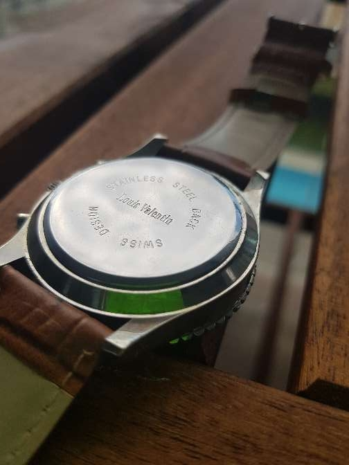 Imagen producto Reloj Louis Valentin piel. hombre 6