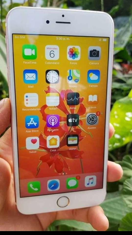 Imagen Iphone 6s plus de 64 gb rosa libre de icloud y operador cargador