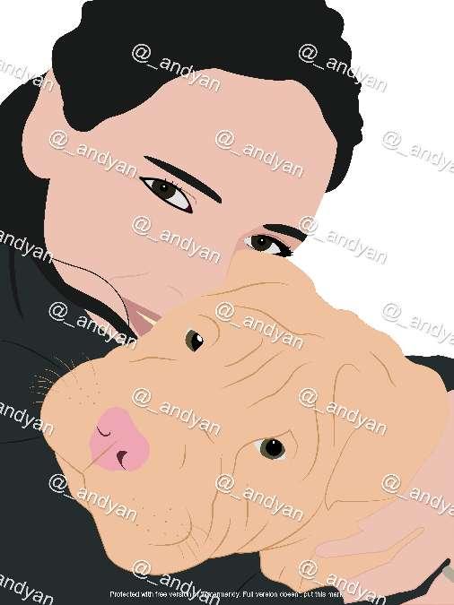 Imagen Retrato digital personalizado personas/mascotas