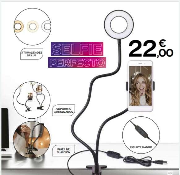 Imagen Anillo Luz led con soporte para móvil