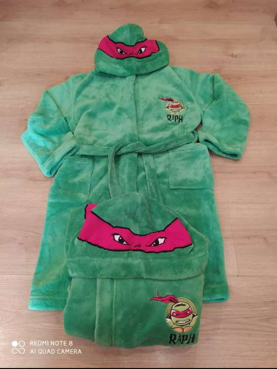 Imagen producto Bata / Albornoz Turtles niño 9-10 años 1