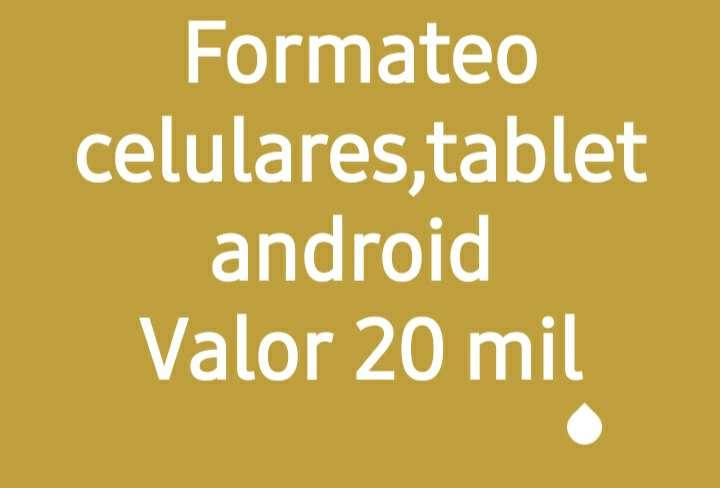 Imagen formateo celulares