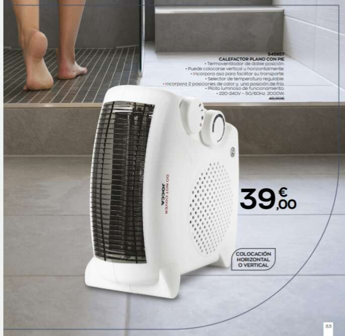 Imagen producto Calefactor plano con pie 1