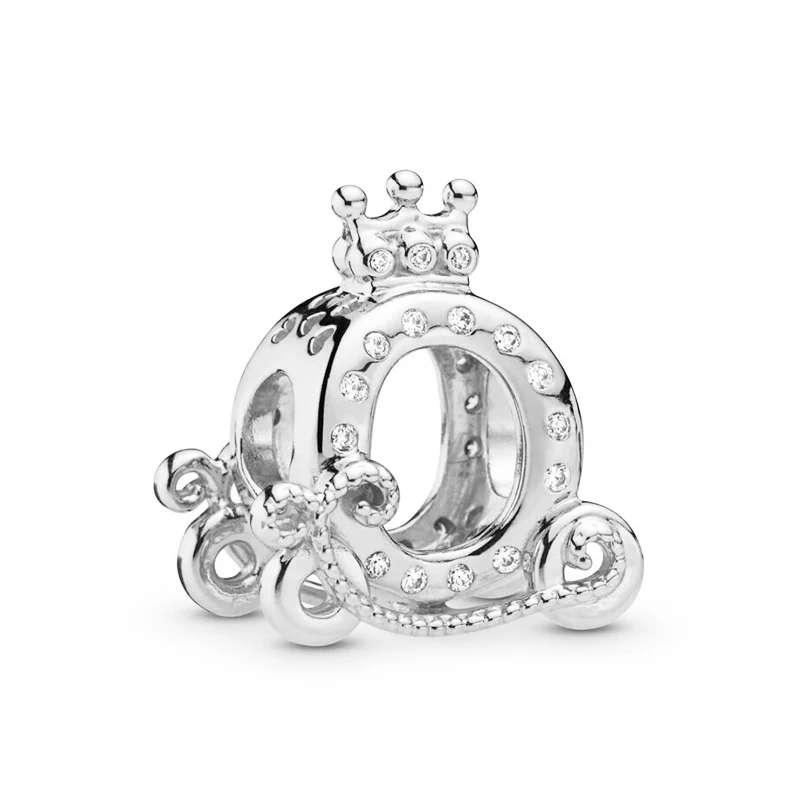 Imagen Charms Carroza Princesa Cenicienta para pulsera de Pandora bañado en plata