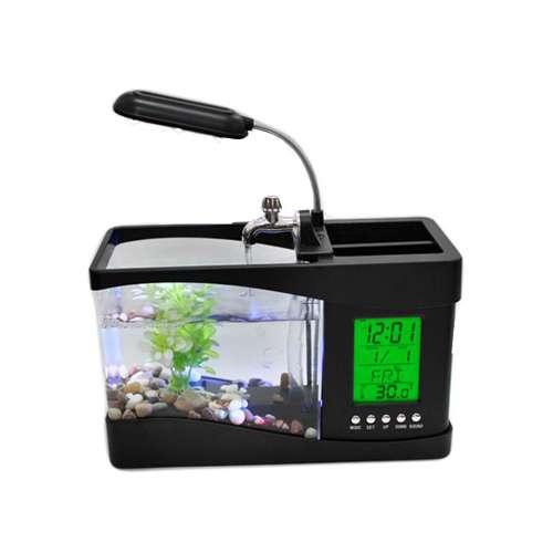 Imagen producto Acuario de sobremesa mini usb y bomba de agua 7
