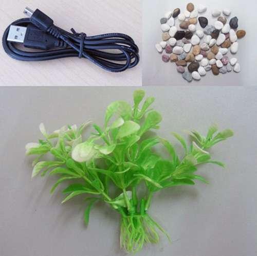 Imagen producto Acuario de sobremesa mini usb y bomba de agua 3