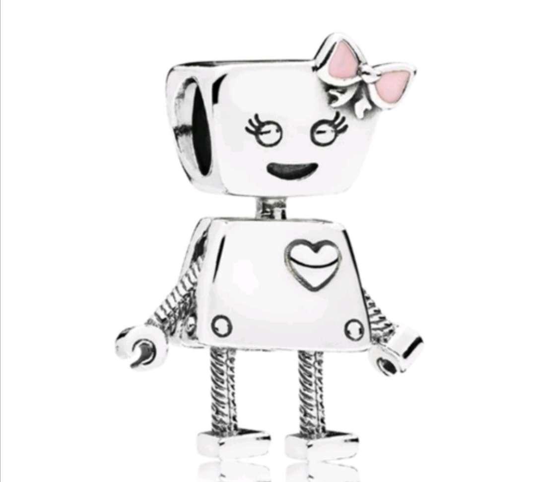 Imagen Charms Robot Hada Corazón para pulsera de Pandora de Plata