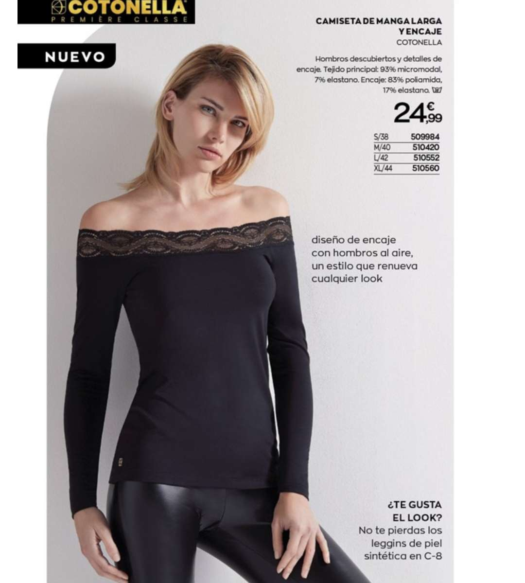 Imagen producto Camisetas largas y ropa interior mujer  9