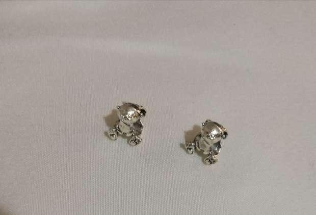 Imagen producto Charms Conejo para pulsera de Pandora bañado en plata  4
