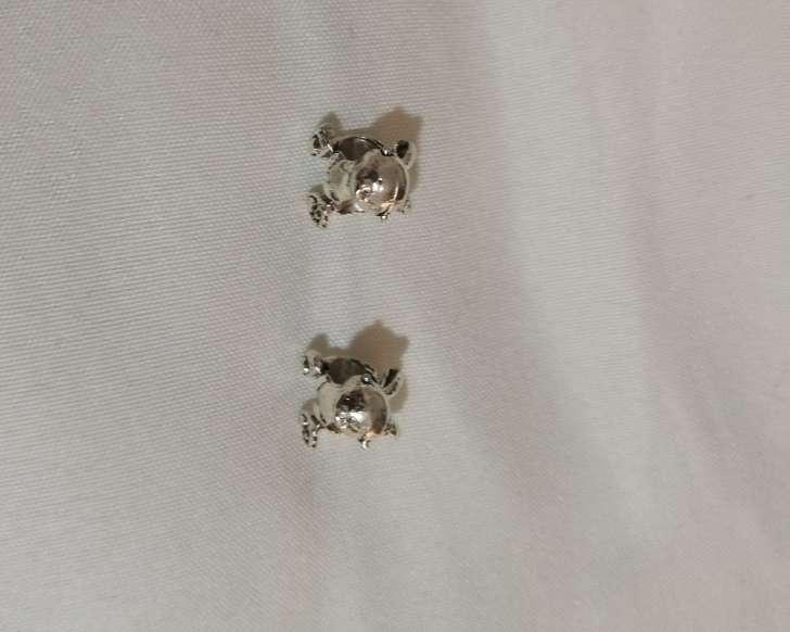 Imagen producto Charms Conejo para pulsera de Pandora bañado en plata  3