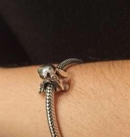 Imagen producto Charms Conejo para pulsera de Pandora bañado en plata  7