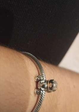 Imagen producto Charms Conejo para pulsera de Pandora bañado en plata  8