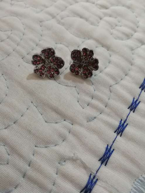 Imagen producto Charms Flor con Brillantes para pulsera Pandora bañado en Plata  2