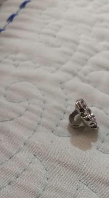 Imagen producto Charms Flor con Brillantes para pulsera Pandora bañado en Plata  4