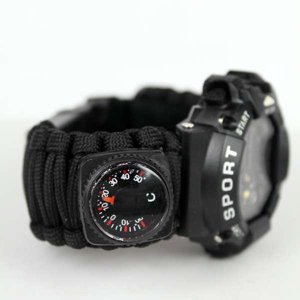 Imagen producto Reloj de supervivencia negro 3