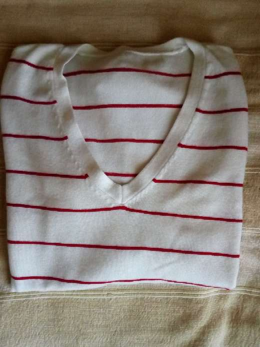 Imagen Jersey a rayas blanco/rojo
