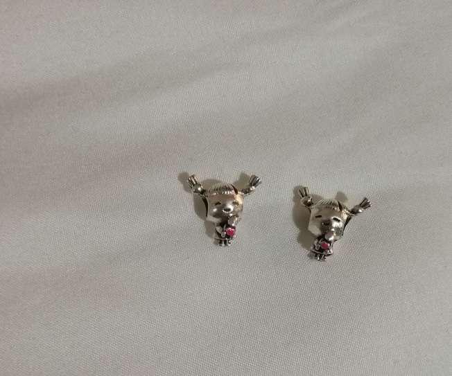 Imagen producto Charms Niña para pulsera de Pandora bañado en plata  2