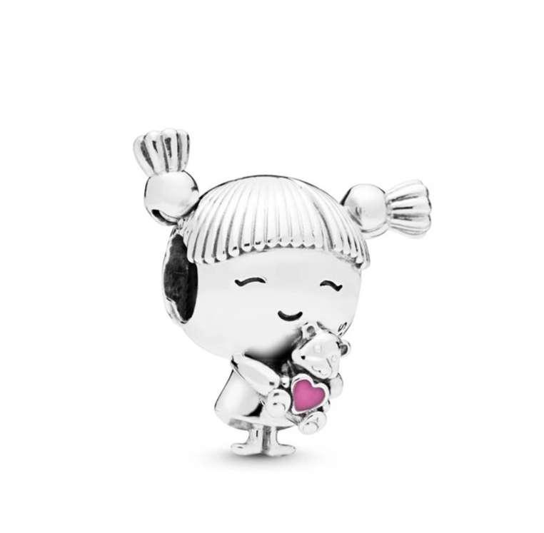Imagen Charms Niña para pulsera de Pandora bañado en plata